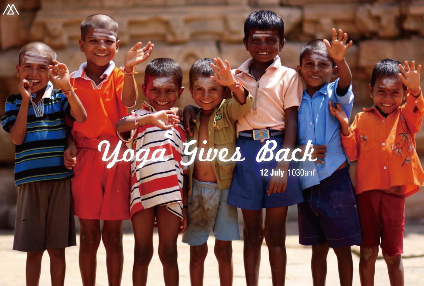 yoga gives back